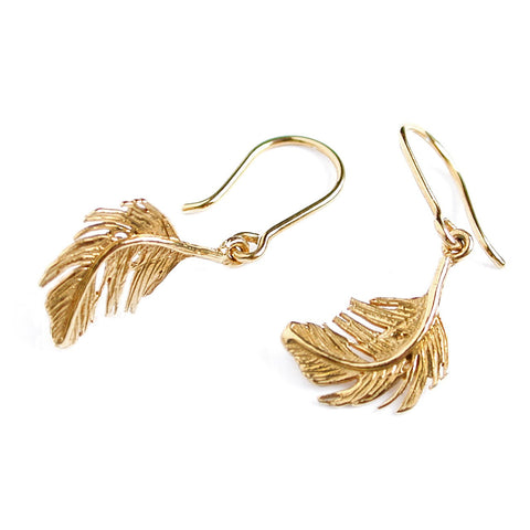 Alex Monroe Little Feather Hook Earrings