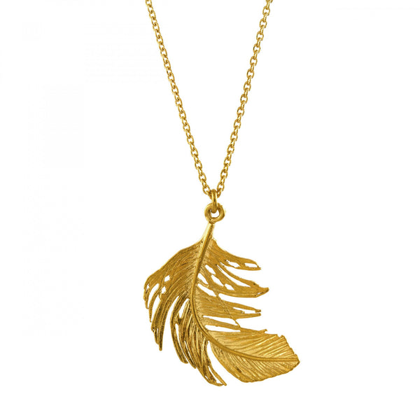 Alex Monroe - Alex Monroe Feather Necklace - Designer Necklaces - Silverado