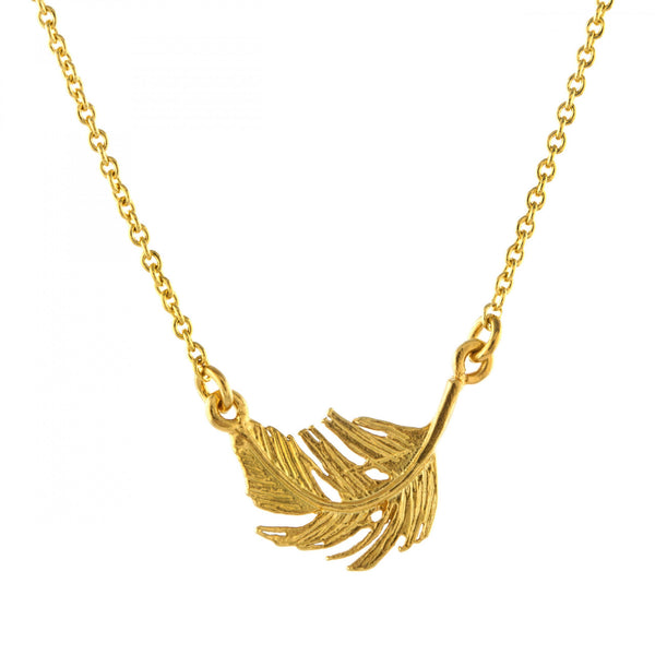 Alex Monroe - Alex Monroe Little Feather In-Line Necklace - Designer Necklaces - Silverado
