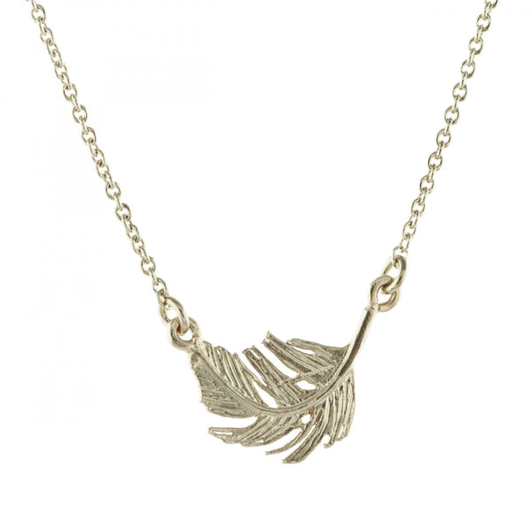 Alex Monroe - Alex Monroe Silver Little Feather In-Line Necklace - Designer Necklaces - Silverado