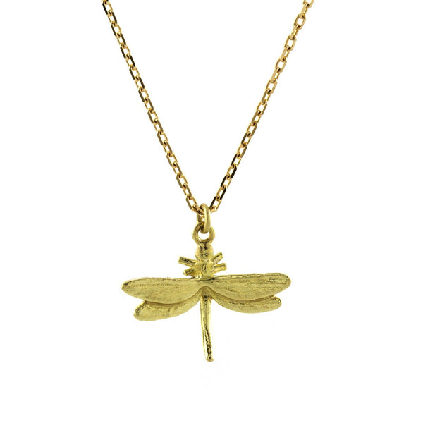 Alex Monroe - Alex Monroe Teeny Tiny Dragonfly - Designer Necklaces - Silverado