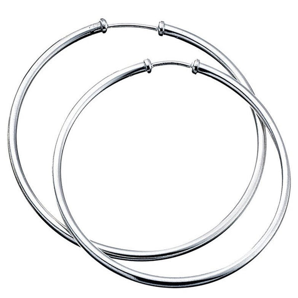 Sterling Silver - Large Silver Hoops - Silver Earrings - Silverado