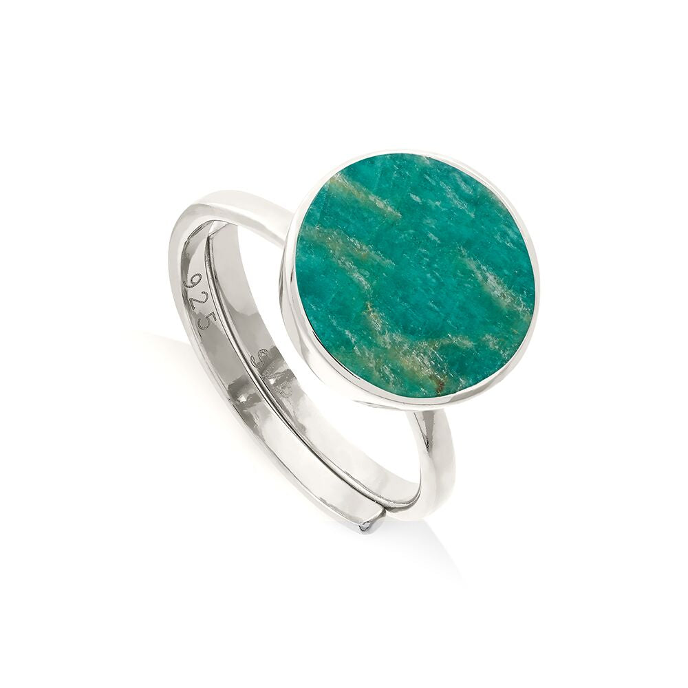 SVP Jewellery Silver and Amazonite Moondance Ring