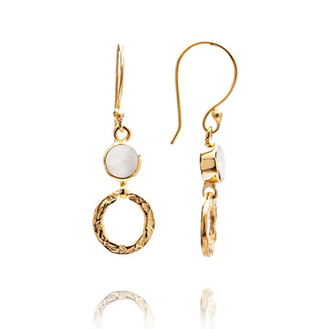 Azuni Small Moonstone Hoop Earrings