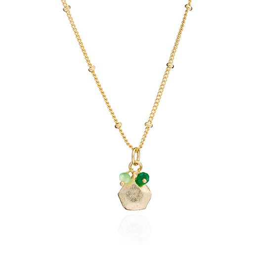 Azuni - Azuni Alaya Necklace - Green Onyx and Prehnite - Designer Necklaces - Silverado