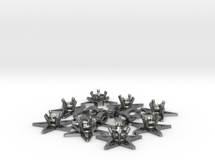DIY Star Pendants for 8 3d printed Polished Silver