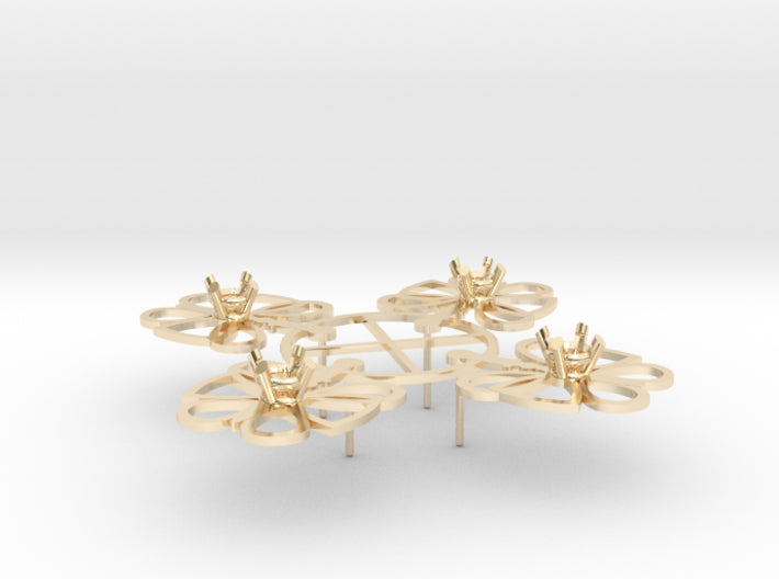DIY Butterfly Post Earrings - 2 Pairs 3d printed 14K Yellow Gold