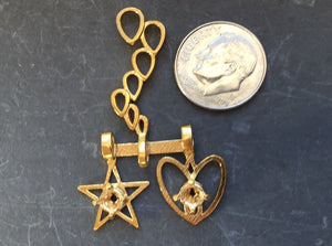 DIY Three Pendants Sampler 3d printed Natural Brass
