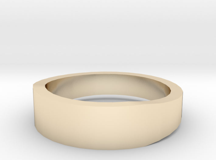Gold Wedding Ring Tapered Plain Band 3d printed Size 6.0 Yellow Gold 14K