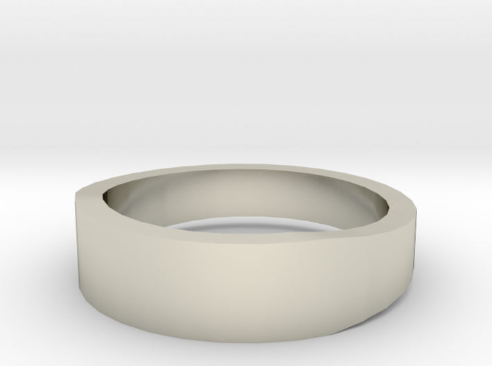 Gold Wedding Ring Tapered Plain Band 3d printed Size 6.0 White Gold 14K