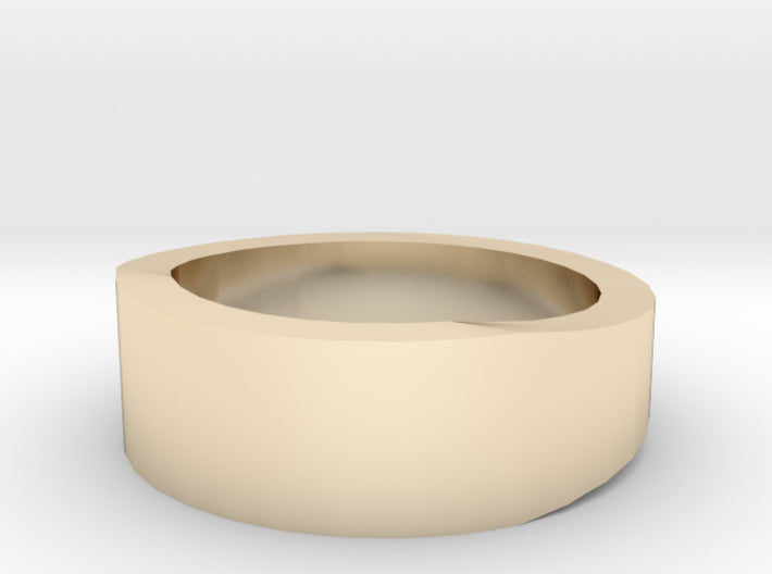 Gold Wedding Ring Tapered Plain Band 3d printed Size 1.5 Yellow Gold 14K