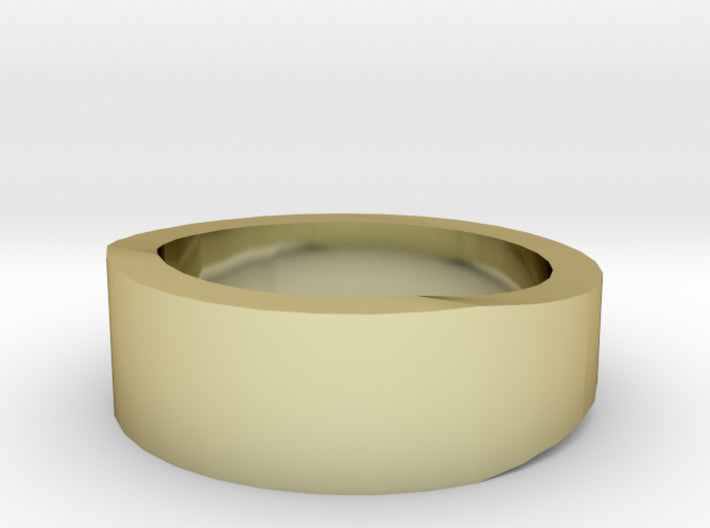 Gold Wedding Ring Tapered Plain Band 3d printed Size 1.5 Yellow Gold 18K