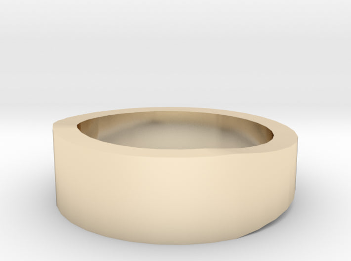 Gold Wedding Ring Tapered Plain Band 3d printed Size 13.0 Yellow Gold 14K