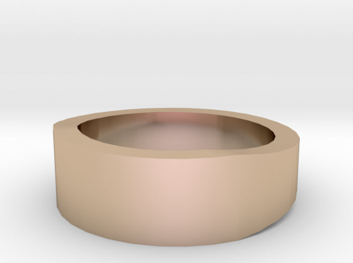 Gold Wedding Ring Tapered Plain Band 3d printed Size 13.0 Rose Gold 14K