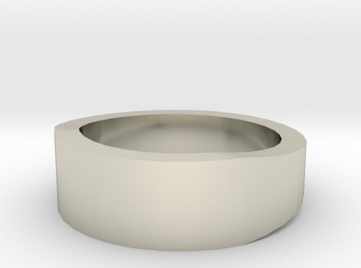 Gold Wedding Ring Tapered Plain Band 3d printed Size 13.0 White Gold 14K