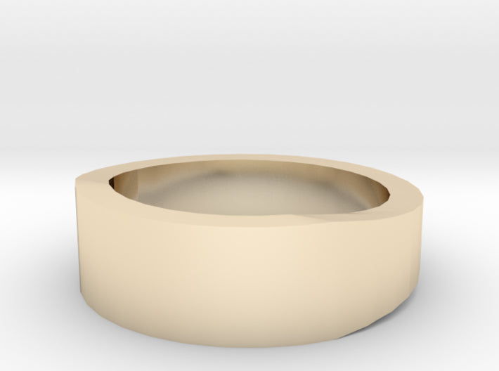 Gold Wedding Ring Tapered Plain Band 3d printed Size 2.0 Yellow Gold 14K