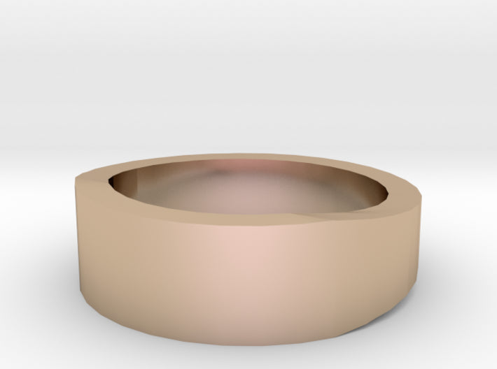 Gold Wedding Ring Tapered Plain Band 3d printed Size 2.0 Rose Gold 14K