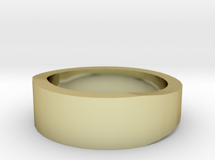 Gold Wedding Ring Tapered Plain Band 3d printed Size 2.0 Yellow Gold 18K