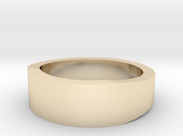 Gold Wedding Ring Tapered Plain Band 3d printed Size 2.5 Yellow Gold 14K