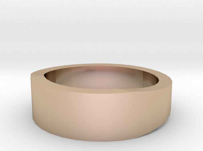 Gold Wedding Ring Tapered Plain Band 3d printed Size 2.5 Rose Gold 14K