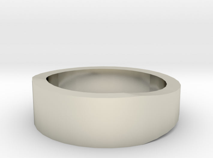 Gold Wedding Ring Tapered Plain Band 3d printed Size 2.5 White Gold 14K