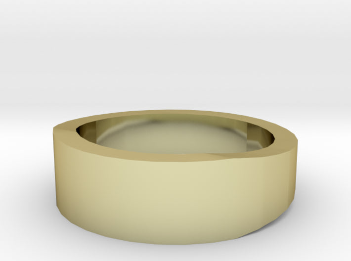 Gold Wedding Ring Tapered Plain Band 3d printed Size 2.5 Yellow Gold 18K