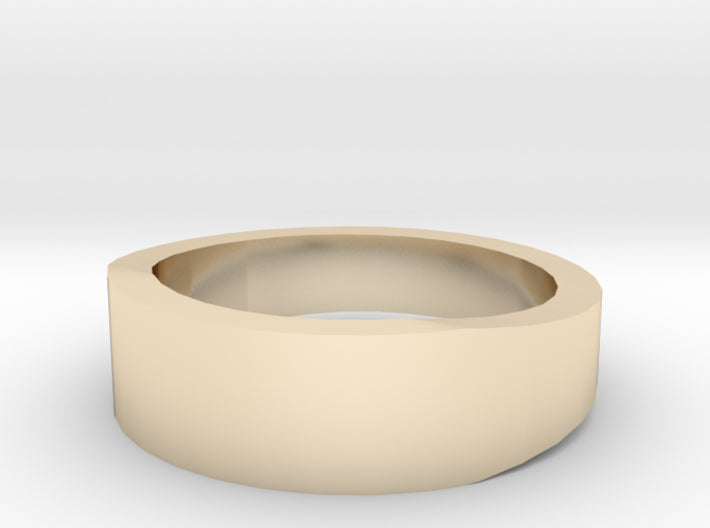 Gold Wedding Ring Tapered Plain Band 3d printed Size 3.5 Yellow Gold 14K