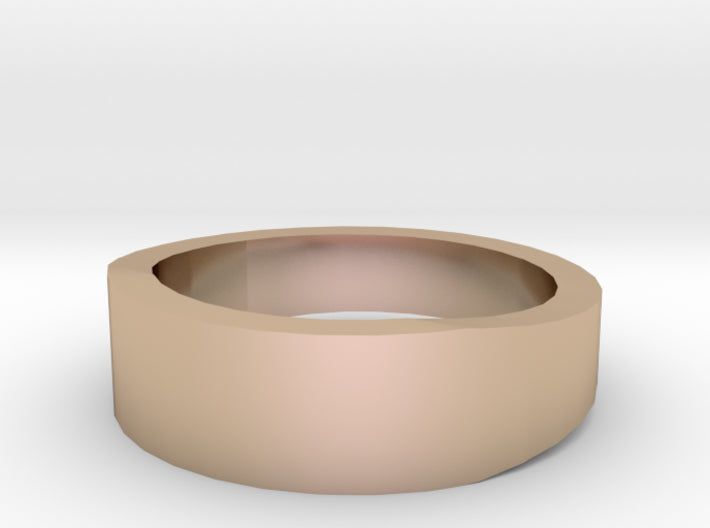 Gold Wedding Ring Tapered Plain Band 3d printed Size 3.5 Rose Gold 14K