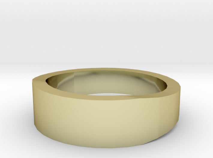 Gold Wedding Ring Tapered Plain Band 3d printed Size 3.5 Yellow Gold 18K