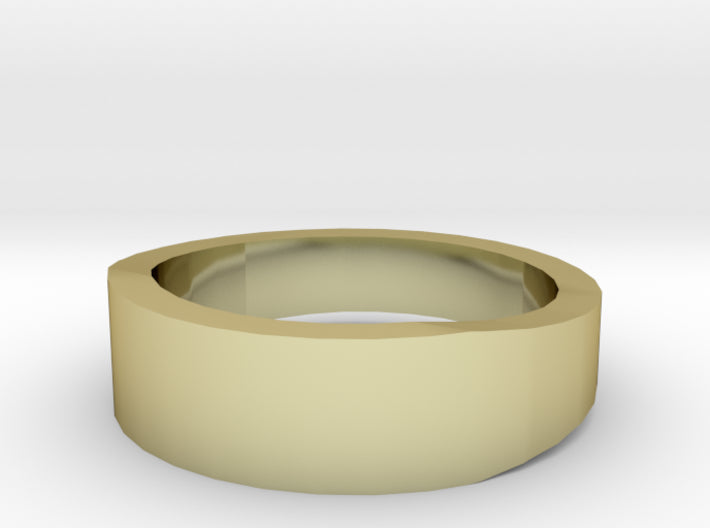 Gold Wedding Ring Tapered Plain Band 3d printed Size 4.0 Yellow Gold 18K