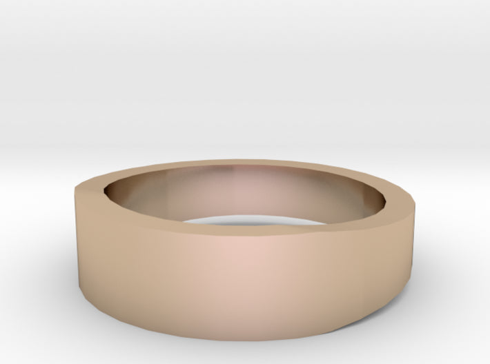 Gold Wedding Ring Tapered Plain Band 3d printed Size 4.5 Rose Gold 14K