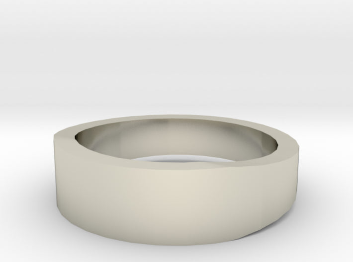 Gold Wedding Ring Tapered Plain Band 3d printed Size 4.5 White Gold 14K