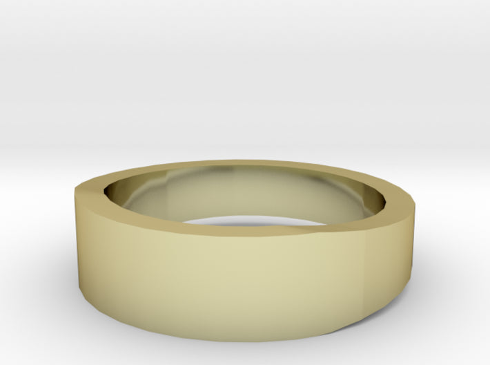 Gold Wedding Ring Tapered Plain Band 3d printed Size 4.5 Yellow Gold 18K