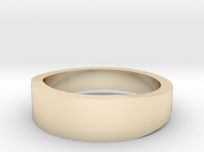 Gold Wedding Ring Tapered Plain Band 3d printed Size 5.0 Yellow Gold 14K