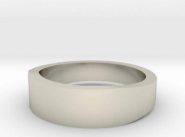 Gold Wedding Ring Tapered Plain Band 3d printed Size 5.0 White Gold 14K