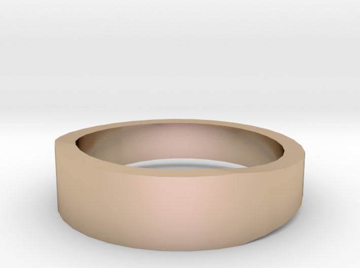 Gold Wedding Ring Tapered Plain Band 3d printed Size 5.5 Rose Gold 14K