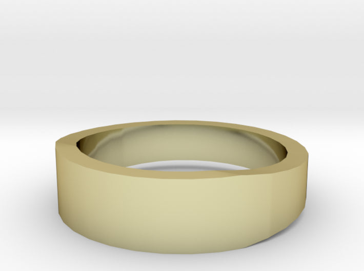 Gold Wedding Ring Tapered Plain Band 3d printed Size 5.5 Yellow Gold 18K