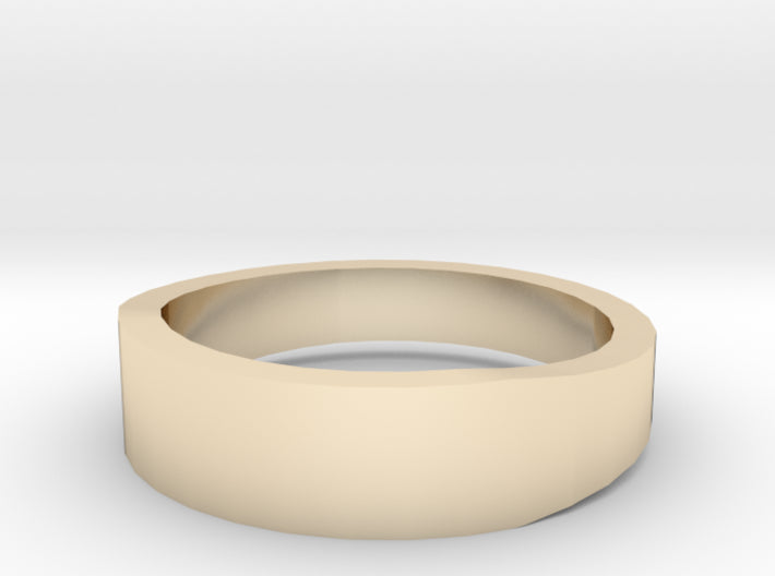 Gold Wedding Ring Tapered Plain Band 3d printed Size 6.5 Yellow Gold 14K