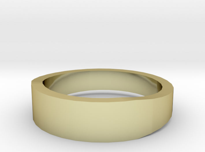 Gold Wedding Ring Tapered Plain Band 3d printed Size 6.5 Yellow Gold 18K