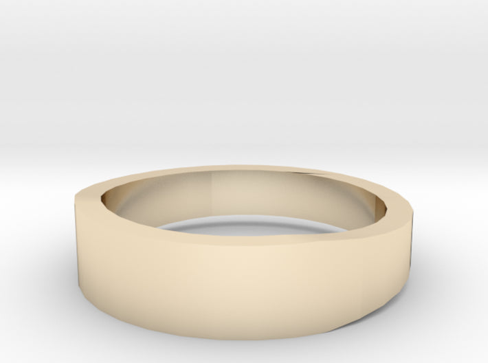 Gold Wedding Ring Tapered Plain Band 3d printed Size 7.0 Yellow Gold 14K
