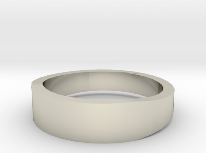 Gold Wedding Ring Tapered Plain Band 3d printed Size 7.0 White Gold 14K