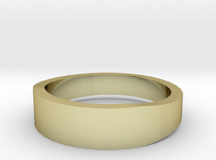 Gold Wedding Ring Tapered Plain Band 3d printed Size 7.0 Yellow Gold 18K