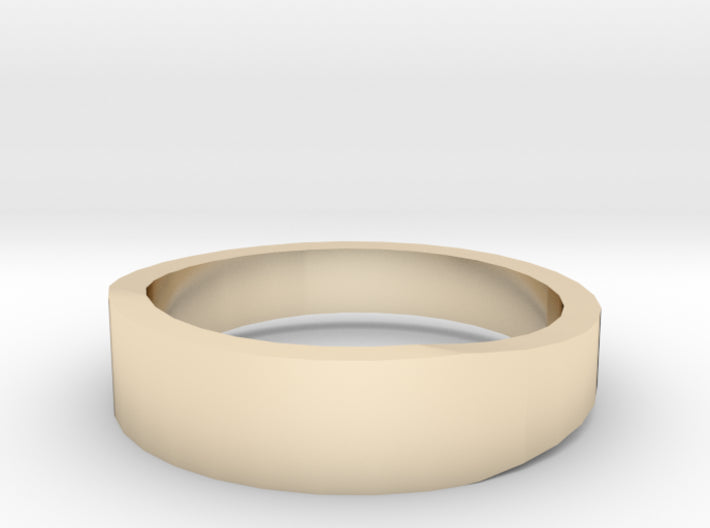 Gold Wedding Ring Tapered Plain Band 3d printed Size 7.5 Yellow Gold 14K