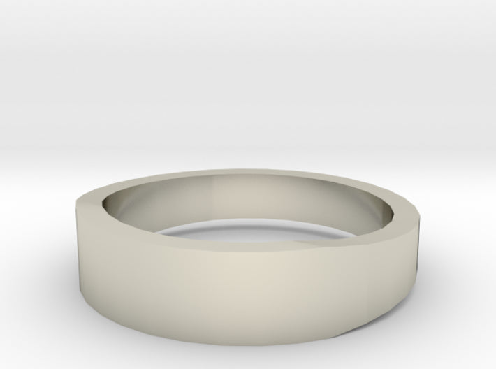 Gold Wedding Ring Tapered Plain Band 3d printed Size 7.5 White Gold 14K