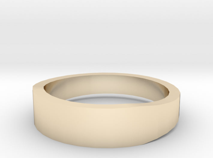 Gold Wedding Ring Tapered Plain Band 3d printed Size 8.0 Yellow Gold 14K