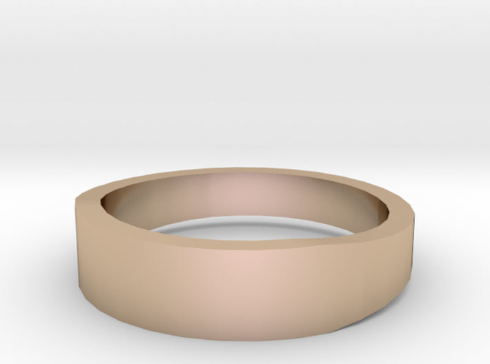 Gold Wedding Ring Tapered Plain Band 3d printed Size 8.0 Rose Gold 14K
