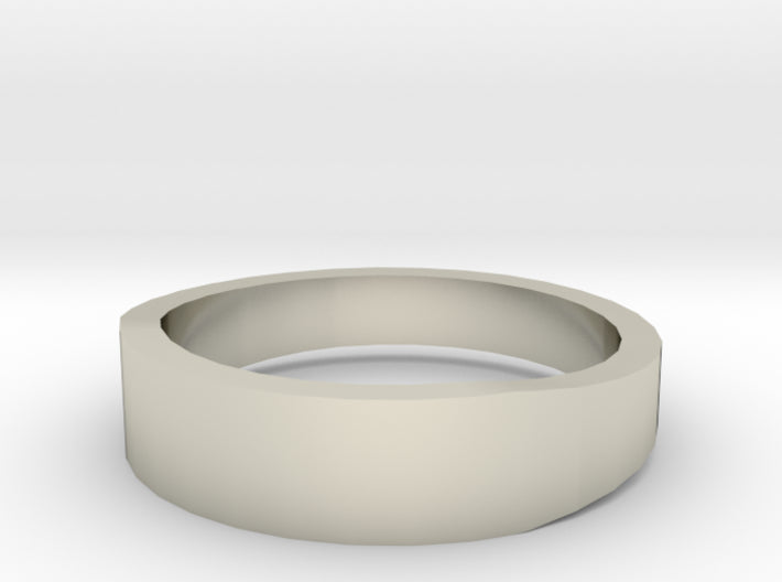 Gold Wedding Ring Tapered Plain Band 3d printed Size 8.0 White Gold 14K