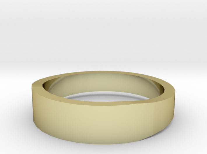 Gold Wedding Ring Tapered Plain Band 3d printed Size 8.0 Yellow Gold 18K