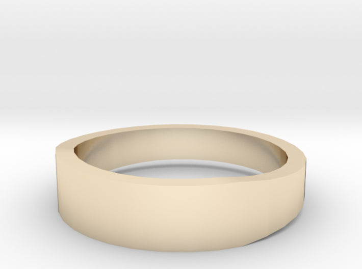 Gold Wedding Ring Tapered Plain Band 3d printed Size 8.5 Yellow Gold 14K