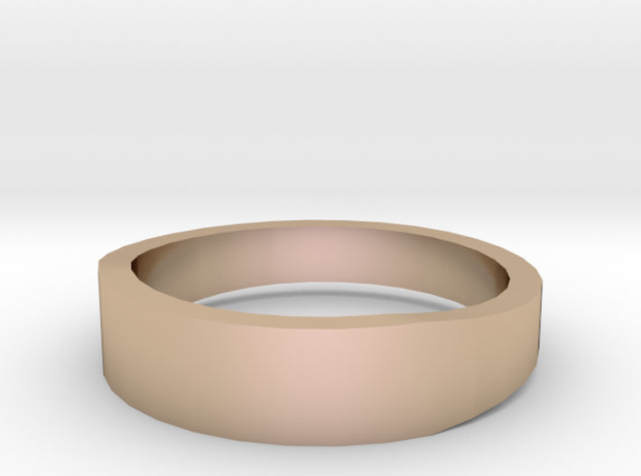 Gold Wedding Ring Tapered Plain Band 3d printed Size 8.5 Rose Gold 14K